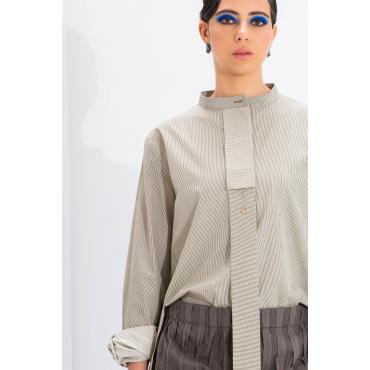 High Low Long Tie Closed Shirt