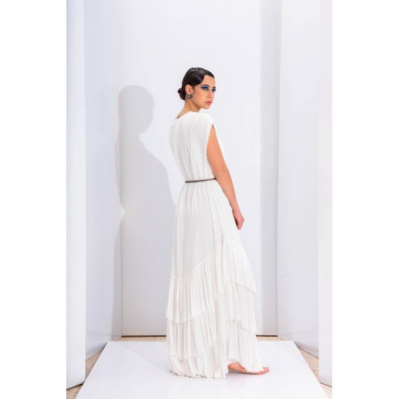 Wrinkled Gypsys Dress In Off White