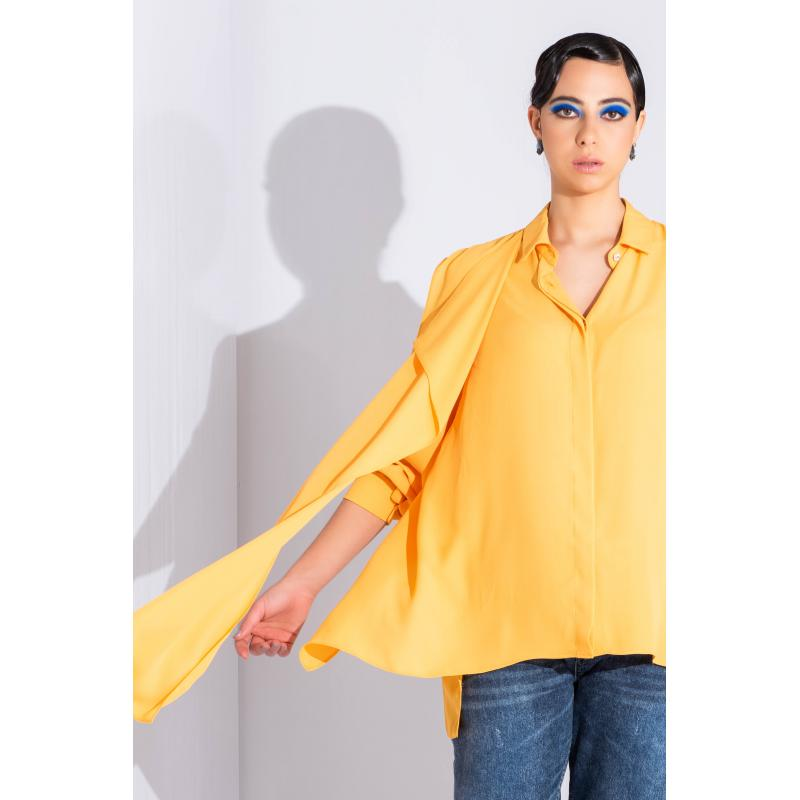 Extra Fabric Shirt In Yellow