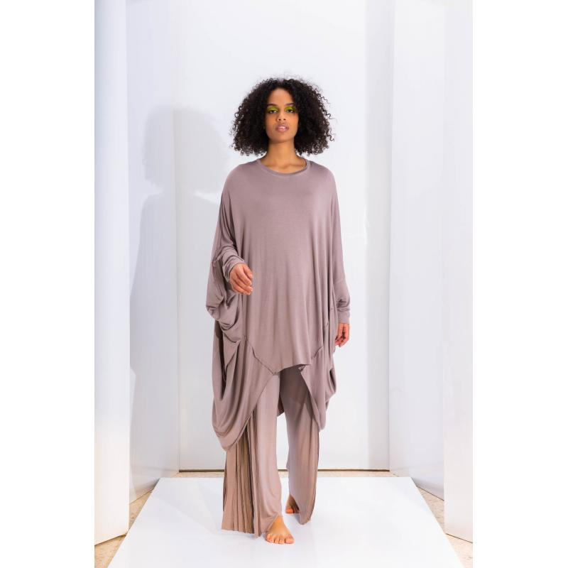 Oversize High Low Soft Top In Lilac