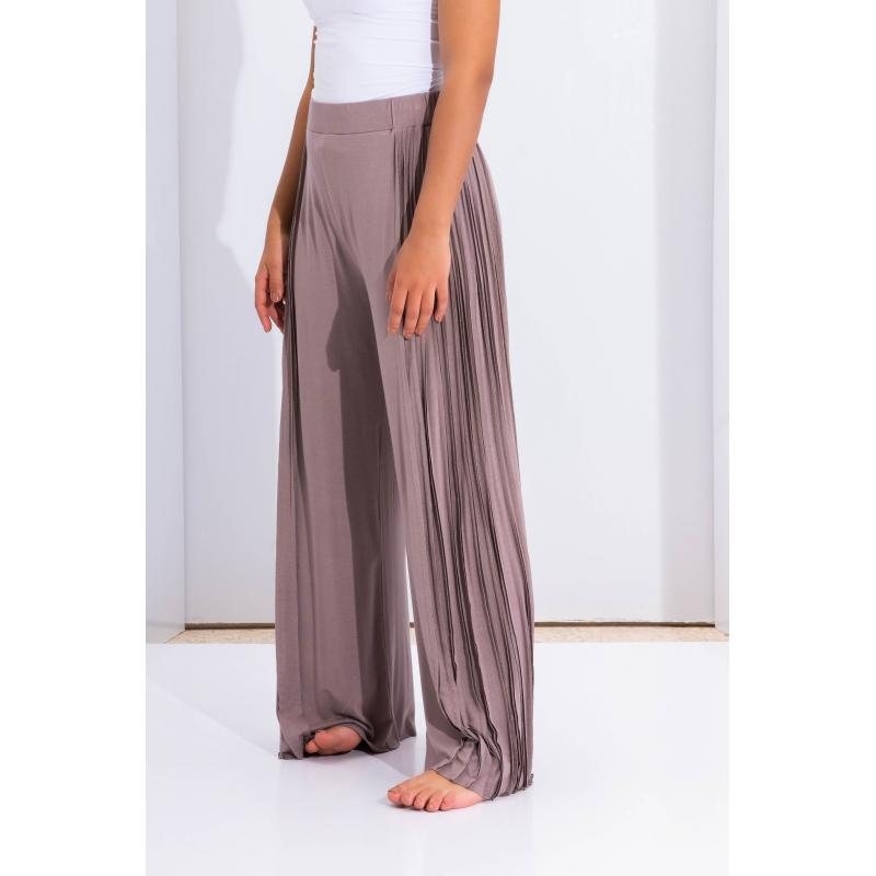 Side Lines Wide Leg Pants In Lilac
