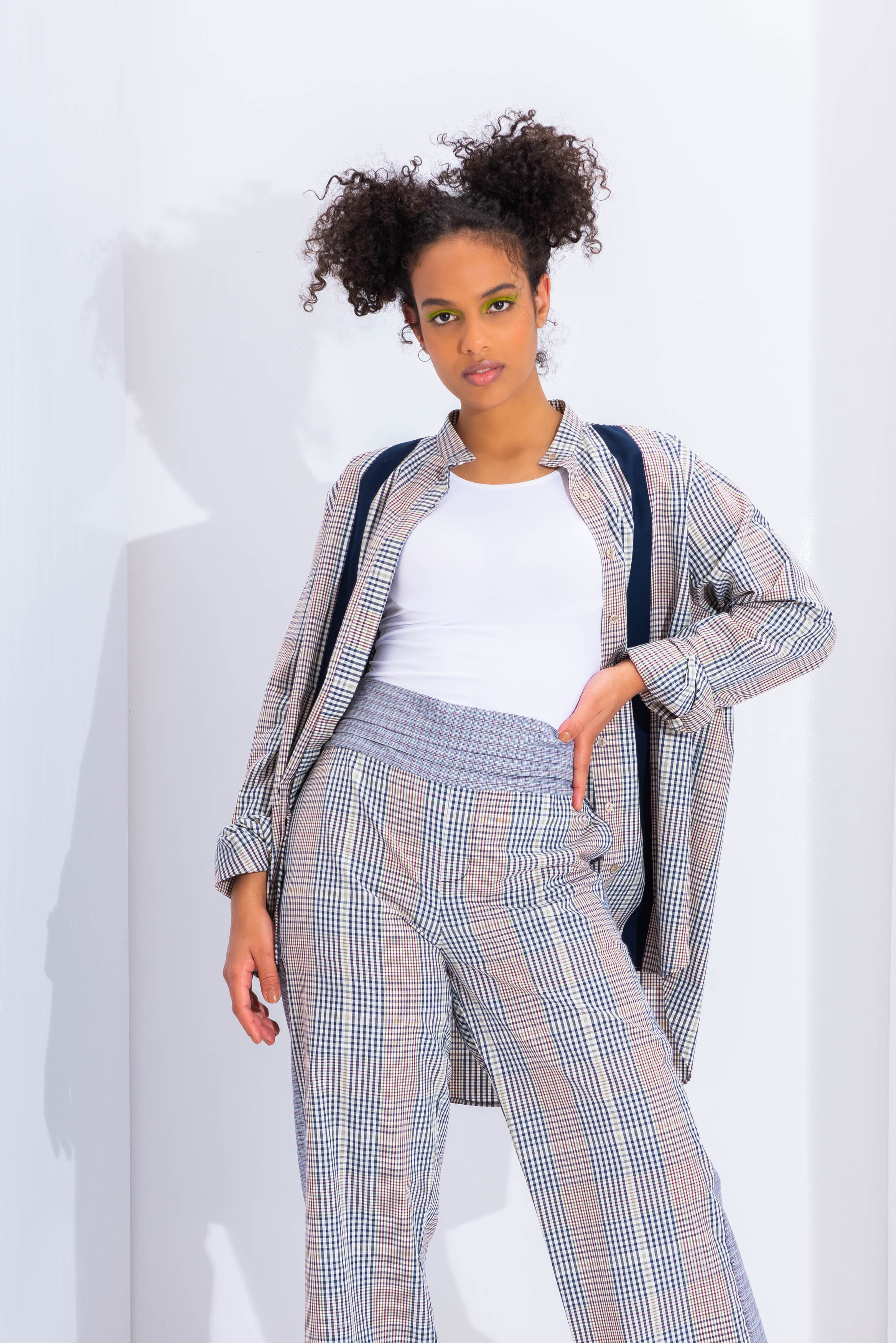 High Low Checked Shirt